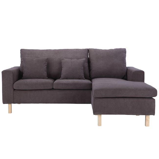 Rico L-Shaped Sofa - Brown - 0