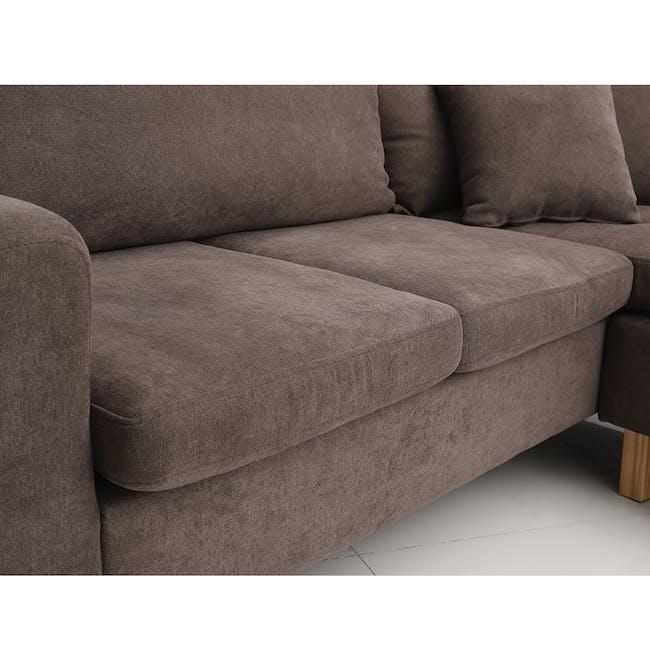 Rico L-Shaped Sofa - Brown - 2