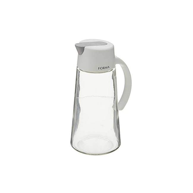 Asvel Forma 650ml Glass Oil Pot - White - 0