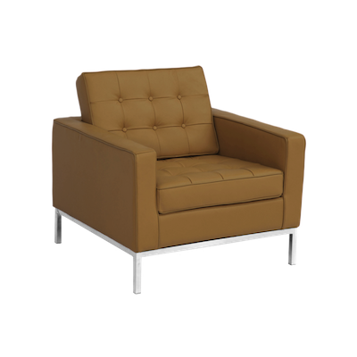 Florence Knoll Armchair - Italian Leather - Image 1