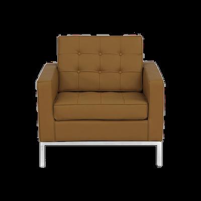 Florence Knoll Armchair - Italian Leather - Image 2