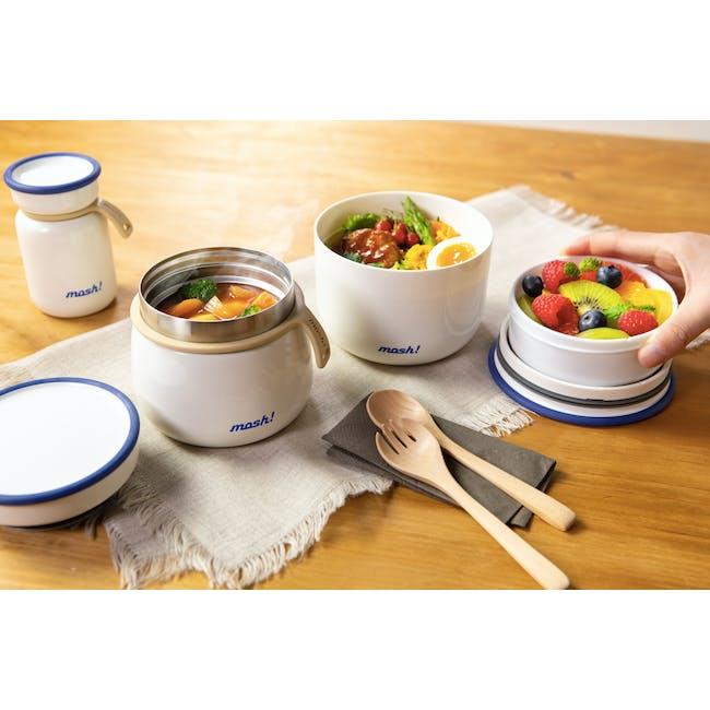 MOSH! Latte Food Pot 350ml - White - 1