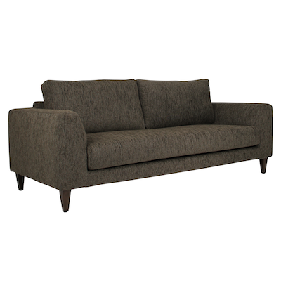 Leila 3 Seater Sofa - Rustic Brown - Image 2