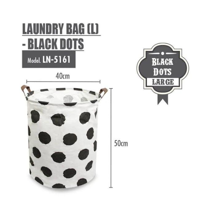 HOUZE Laundry Bag - Black Dots - 1