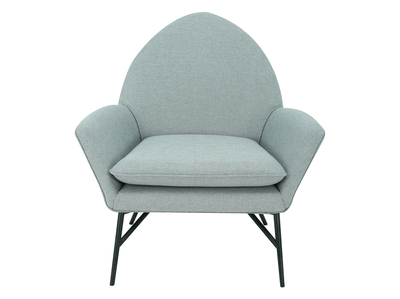 Esther Lounge Chair - Pale Silver - Image 1