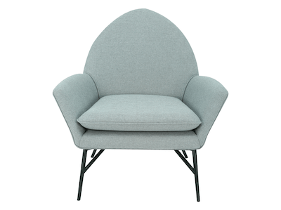 Esther Lounge Chair - Pale Silver