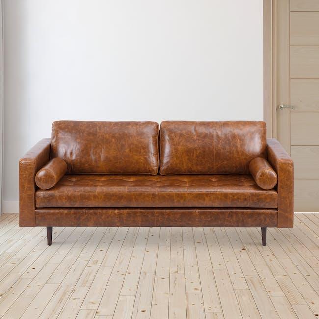 Nolan 3 Seater Sofa - Cigar (Premium Waxed Leather) - 2