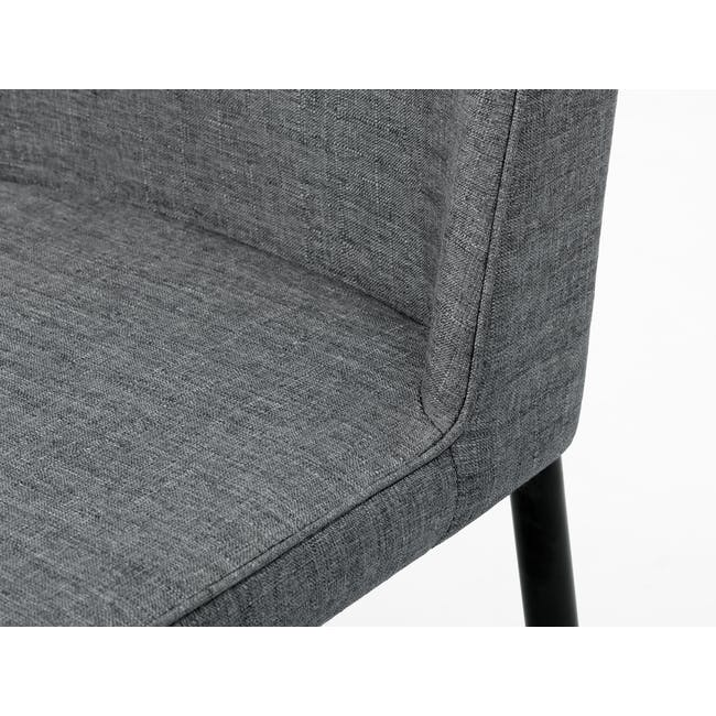 (As-is) Jake Dining Chair - Black, Oyster Grey - 10