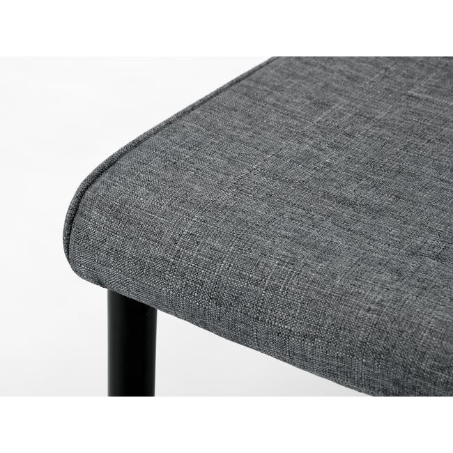 (As-is) Jake Dining Chair - Black, Oyster Grey - 11