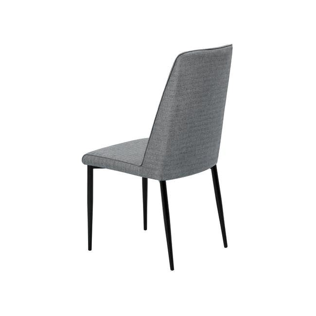 Telyn Oval Dining Table 1.6m with 4 Jake Dining Chairs in Oyster Grey and Carbon - 11