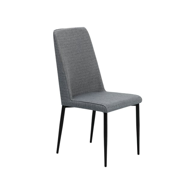 Telyn Oval Dining Table 1.6m with 4 Jake Dining Chairs in Oyster Grey and Carbon - 12