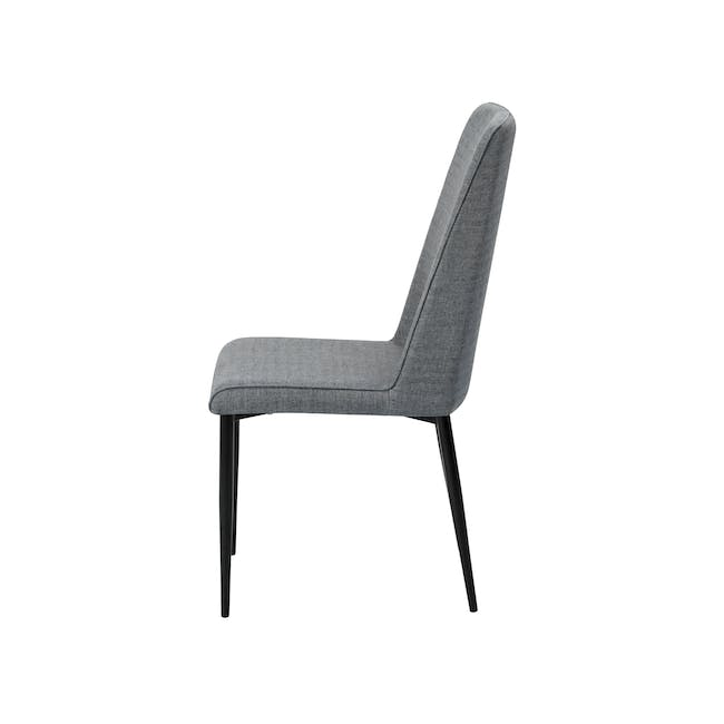 Telyn Oval Dining Table 1.6m with 4 Jake Dining Chairs in Oyster Grey and Carbon - 9