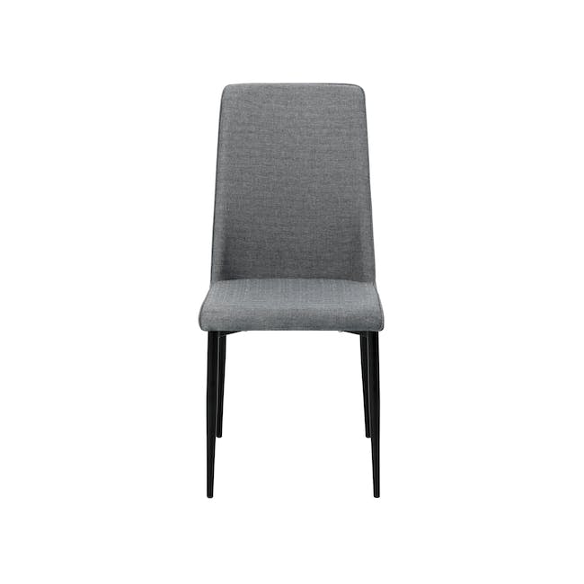Telyn Oval Dining Table 1.6m with 4 Jake Dining Chairs in Oyster Grey and Carbon - 10