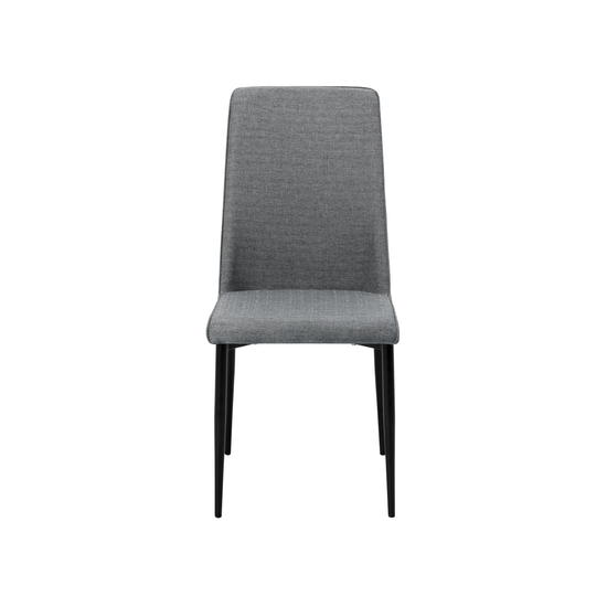 Glass and Metal - Jake Dining Chair - Black, Grey