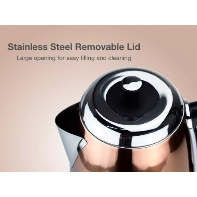 Odette Streamline 1.7L Stainless Steel Electric Kettle - Copper - 4