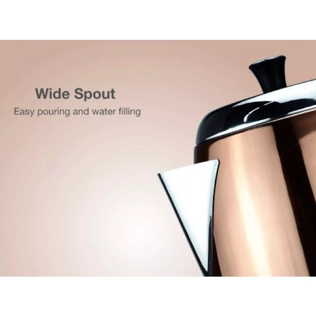 Odette Streamline 1.7L Stainless Steel Electric Kettle - Copper - 5