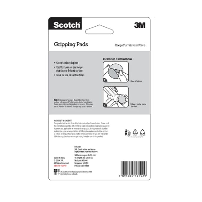 Scotch Square Gripper Pads - 2