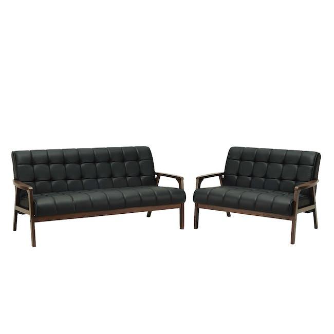 Tucson 3 Seater Sofa with Tucson 2 Seater Sofa - Espresso - 0