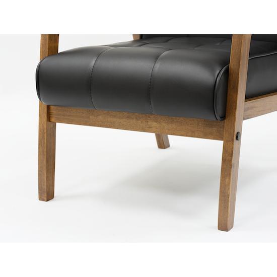 Malmo - Tucson Armchair - Cocoa, Espresso (Faux Leather)