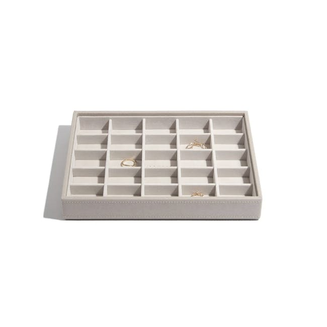 Stackers Classic 25 Compartment Trinket Layer - Taupe - 0