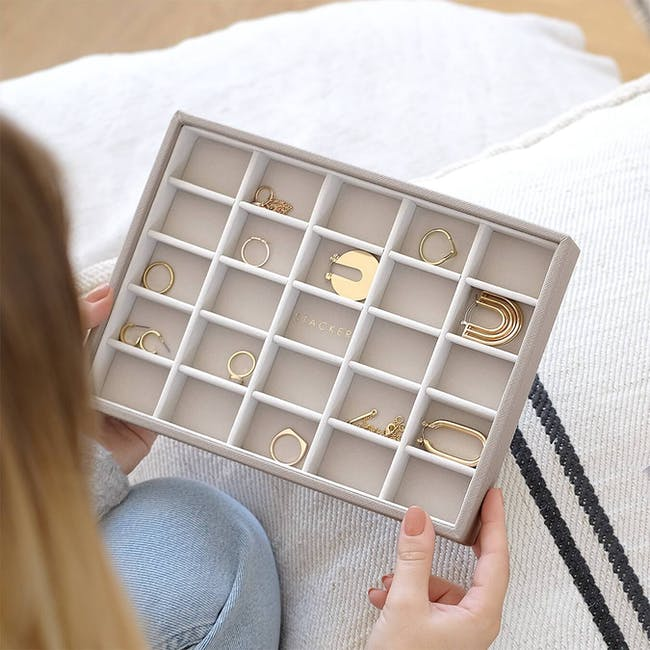Stackers Classic 25 Compartment Trinket Layer - Taupe - 1