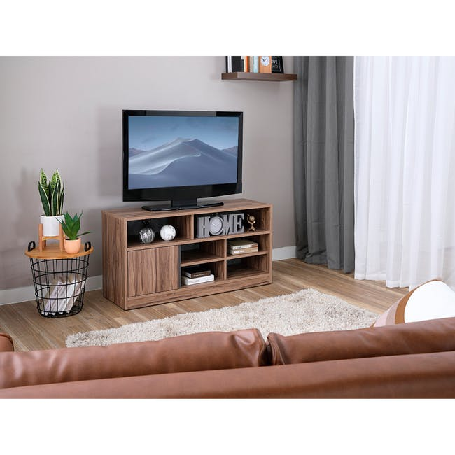 Sawyer TV Console 1.2m - Walnut, Grey - 1
