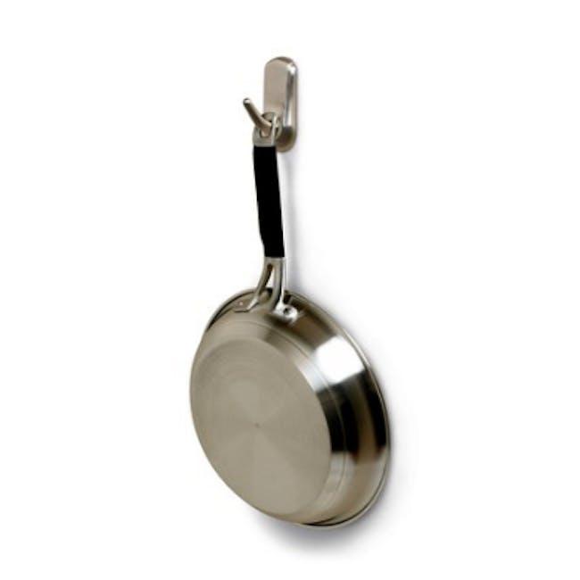 Command™ Accent Medium Hook - Brushed Nickel - 3