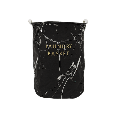 Marble Laundry Basket - Black - Image 2
