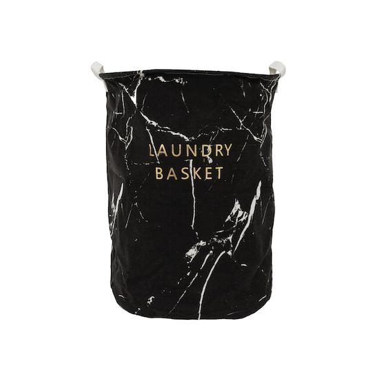 1688 - Marble Laundry Basket - Black