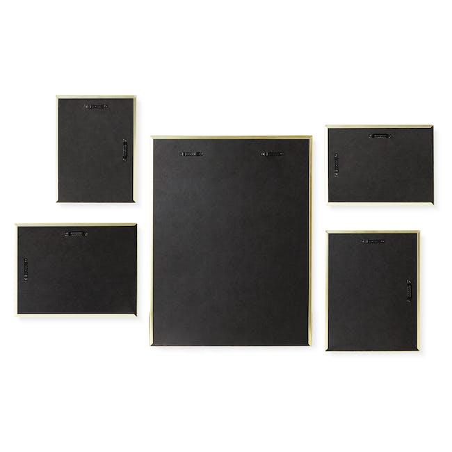 Matinee Photo Display Set - Brass (Set of 5) - 4