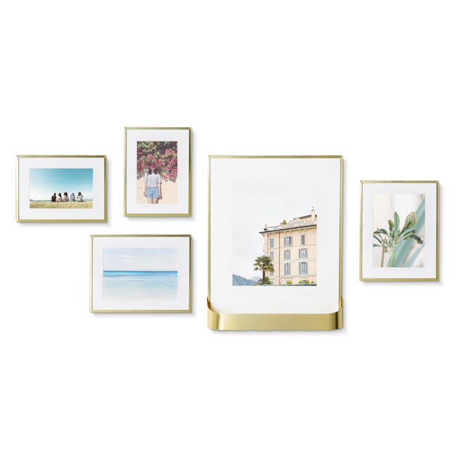 Matinee Photo Display Set - Brass (Set of 5) - 1