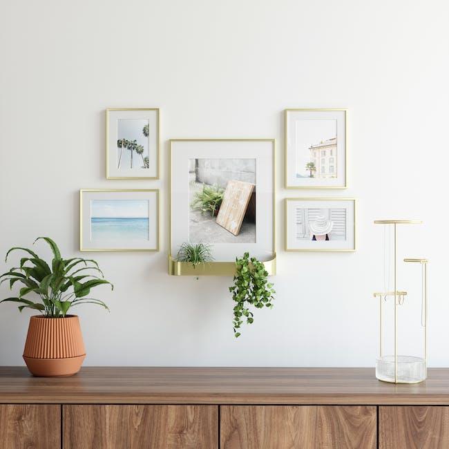 Matinee Photo Display Set - Brass (Set of 5) - 7