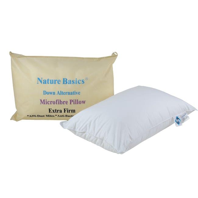 Nature Basics Extra Firm Microfibre Pillow - 0