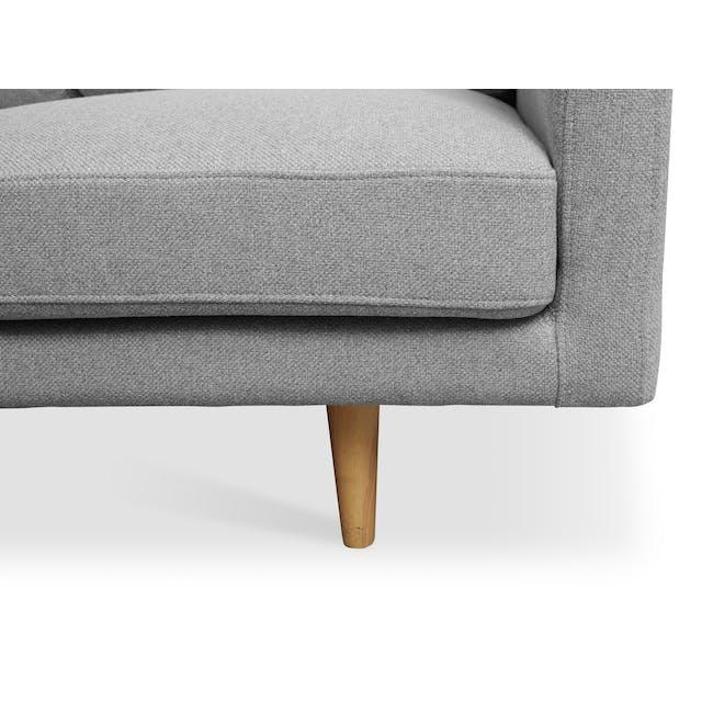 Declan 3 Seater Sofa - Oak, Ash Grey - 6