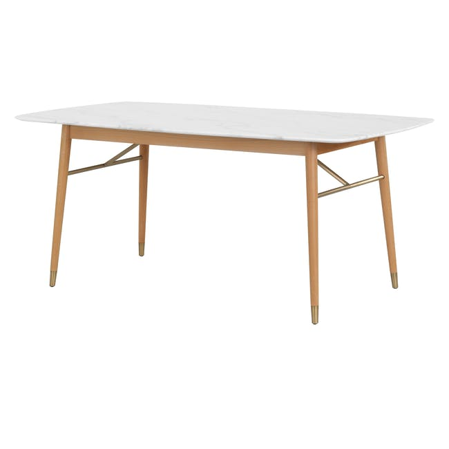 (As-is) Hagen Marble Dining Table 1.8m - 4 - 0