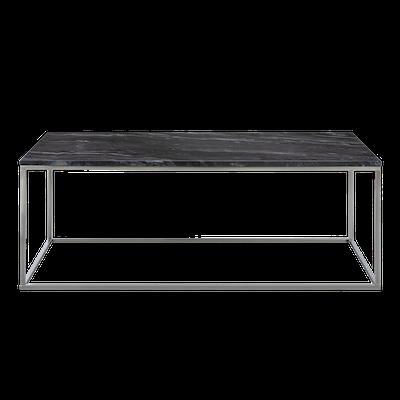 Amelia Marble Coffee Table - Dark Grey, Chrome - Image 1