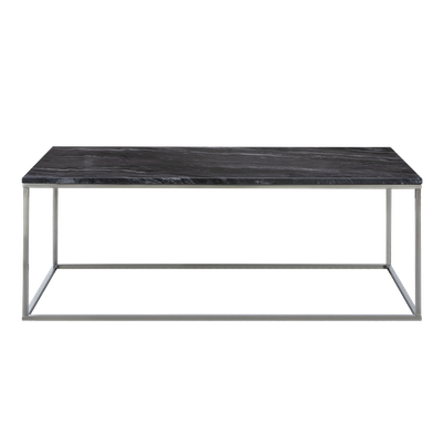 Amelia Marble Coffee Table - Dark Grey, Chrome - Image 1