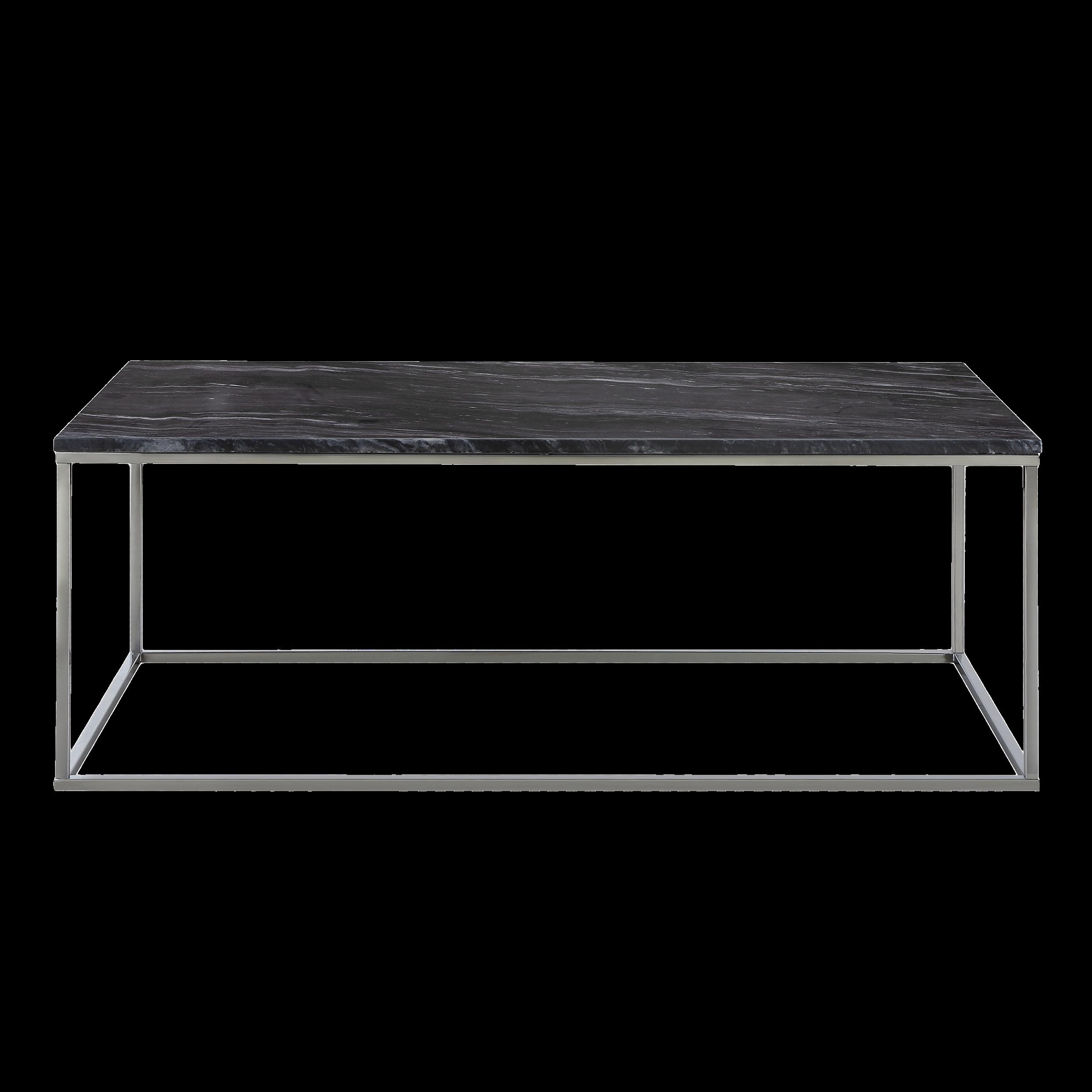 Amelia Marble Coffee Table   Dark Grey, Chrome
