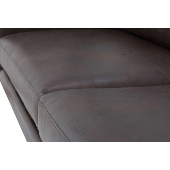 Rexton 3 Seater Sofa - Mocha (Genuine Cowhide), Down Feathers - 3