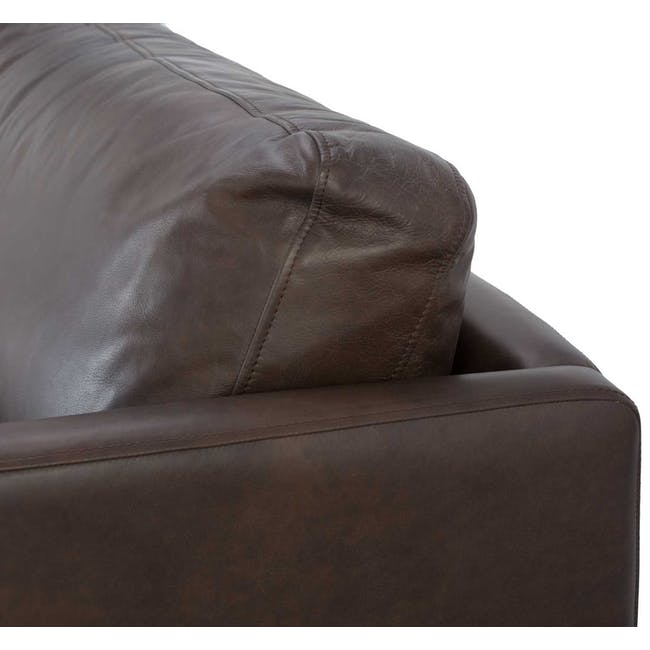 Rexton 3 Seater Sofa - Mocha (Genuine Cowhide), Down Feathers - 4