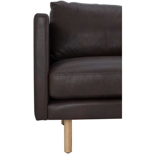 Rexton 3 Seater Sofa - Mocha (Genuine Cowhide), Down Feathers - 5