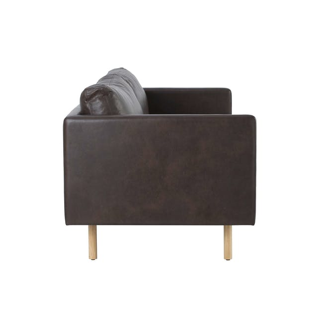 Rexton 3 Seater Sofa in Mocha with Eames Lounge Chair and Ottoman - 3