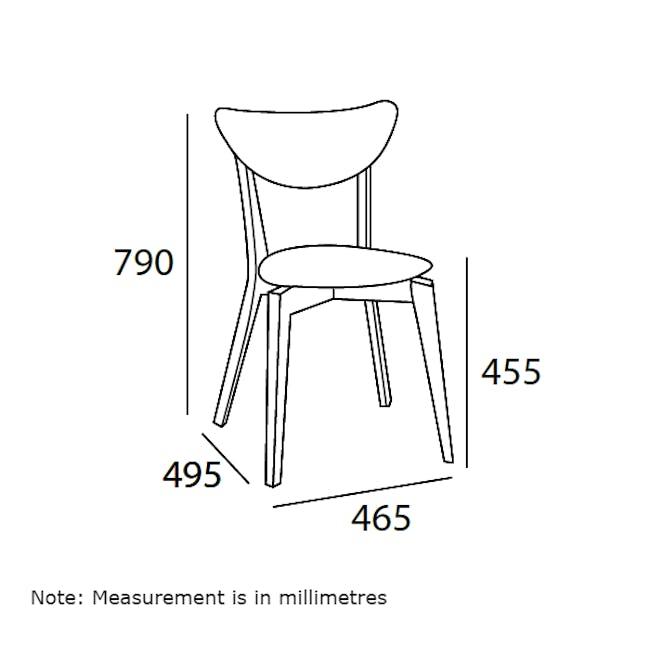 Harold Dining Chair - Natural, Dolphin Grey - 9