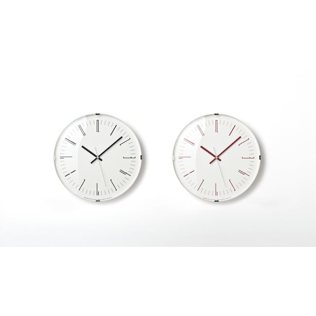 Draw Wall Clock (Dome) - Red - 2
