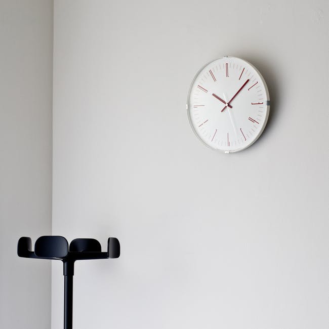 Draw Wall Clock (Dome) - Red - 1