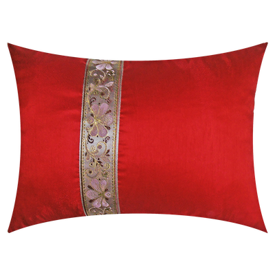 Orient Oblong Cushion - Red - Image 2