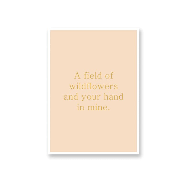 Borderless Positive Art Print on Paper (2 Sizes) - Wildflowers - 0