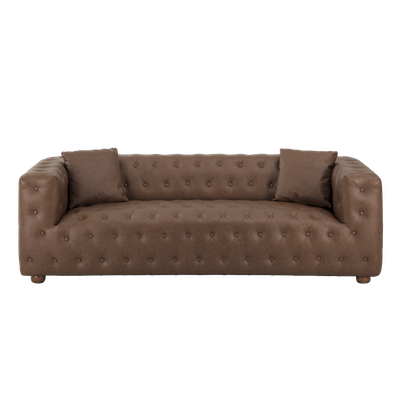 Alexander 3 Seater Sofa - Mocha (Faux Leather) - Image 1