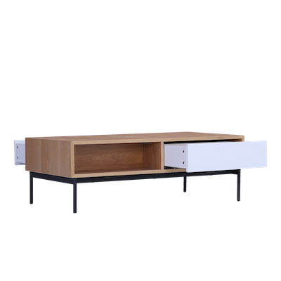 Bacchus Coffee Table - White, Oak - Image 2