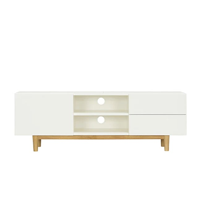 Aalto TV Cabinet 1.6m - White, Natural - 6